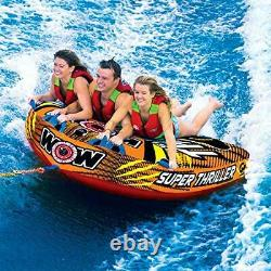 Tube Water Towable Watersports Thriller Deck Inflatable Boat 1 to 3 Riders