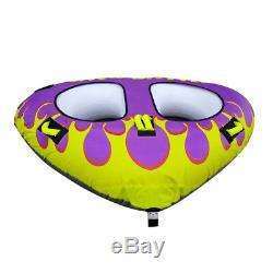 WAVE DU Inflatable Towable Tube Water tubing for boat, Jet ski, Ski tube, tubing