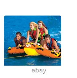 WOW BOLT 1, 2, 3 or 4 Person Inflatable Towable Tube Boat Water Raft Float