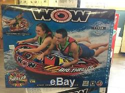 WOW Big Thriller 1 2 Rider Inflatable Water Deck Tube Boat Towable 18-1010