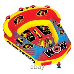 WOW Flash 1or 2 Person Inflatable Towable Tube Boat Water Raft Float FAST SHIP