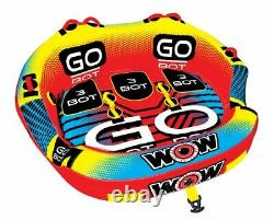 WOW Go Bot 18-1050 3 Person Towable Water Tube