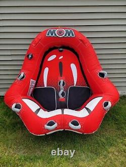 WOW HOT LIPS Inflatable Cockpit 2 Person Rider Towable Tube Float Raft Water Ski
