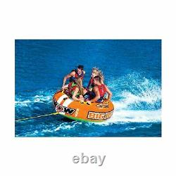 WOW Inflatable Racing Towable Tube Boating 3 4 Person Outdoor Water Sports 15113