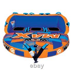 WOW MAX 1, 2 or 3 Person Inflatable Towable Tube Boat Water Raft Float FAST SHIP