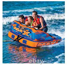 WOW MAX 1, 2 or 3 Person Inflatable Towable Tube Boat Water fast Shipping