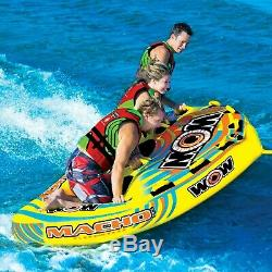 WOW Macho 3 Persons tube inflatable towable lounge water-ski 16-1030 WOW Sports