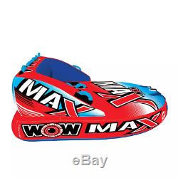 WOW Max 1 3 Person Towable Water Tube Red and Blue