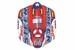 WOW Pro Steer Flex Wing Inflatable Towable Tube Float 1-2 Rider Person Water Spo