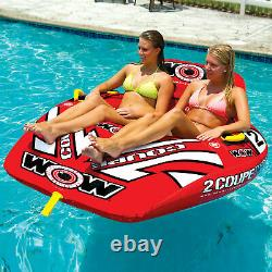 WOW Sports 2 Person Coupe Cockpit Towable Water Tube For Pool and Lake (15-1030)