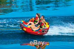 WOW Sports Go Bot 3 Person Towable Water Tube For Pool and Lake (18-1050)