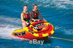 WOW Sports Wild Wing 2 Person Towable Water Tube For Pool and Lake (18-1120)
