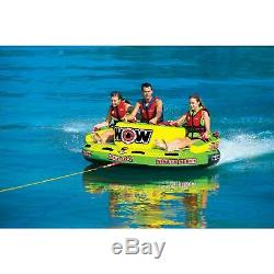 WOW Sports Zelda 1-3 Person Towable Water Tube For Pool and Lake (15-1070)
