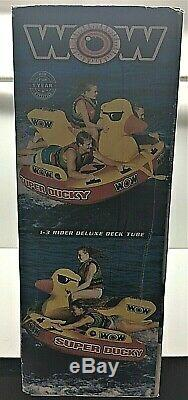 WOW Super Ducky Duck 1 2 3 Person Rider Boat Towable Water Tube Inflatable Raft