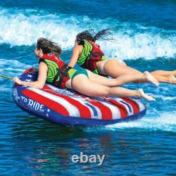WOW WATERSPORTS BORN TO RIDE TOWABLE 2 PERSON Deck Inflatable Boat Tube Water