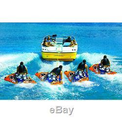 WOW Watersports 13-1030 1 Person Flex Wing Drifter Water Towable Tube, Orange