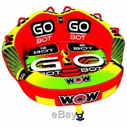 WOW Watersports 2-Person Go Bot Towable Extreme Secure Inflatable Water Tube