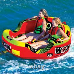 WOW Watersports 2-Person Go Bot Towable Secure Inflatable Water Tube (Open Box)