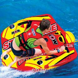 WOW Watersports 2 Person Steerable Towable Inflatable Water Tube Tow Boat Raft