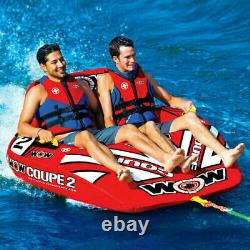 WOW Watersports Coupe Cockpit 2 Person Towable Tube Float Raft Water Ski Boat