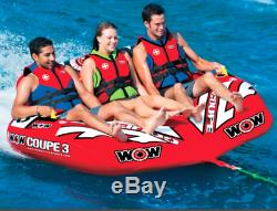 WOW Watersports Coupe Cockpit 3 Person Towable Tube Float Raft Water Ski Boat