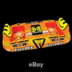WOW Watersports Face-Off Inflatable Water Tube Boat Towable 1-4 Rider 15-1050