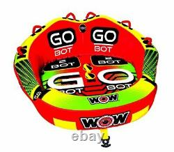 WOW Watersports Go Bot Towable, Front and Back Tow Points, Towable Water Tube