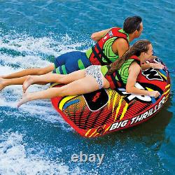 WOW Watersports Inflatable 2-Person Towable Water Boating Deck Tube (Open Box)