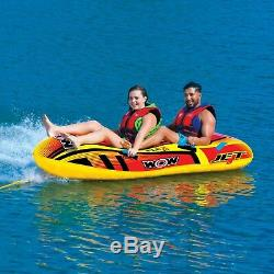 WOW Watersports Jet Boat 1-2 Rider Inflatable Water Tube Boat Towable 17-1020