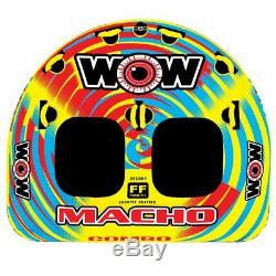 WOW Watersports Macho 2 Rider Inflatable Water Deck Tube Boat Towable 16-1010