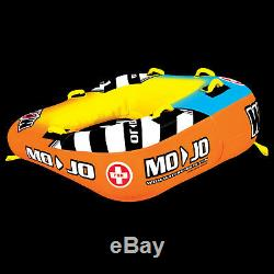 WOW Watersports Mojo 2 Rider Inflatable Water Deck Tube Boat Towable 16-1060