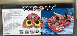 WOW-Watersports Speedzilla 1-2 Rider Person Towable Inflatable Water Tube Float