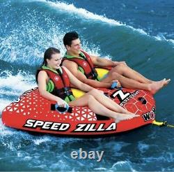 WOW Watersports Speedzilla 1-2 Rider Person Towable Inflatable Water Tube Float