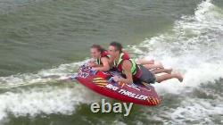 WOW Watersports Thriller Deck Tube Water Towable Tube (1 to 2 Riders)