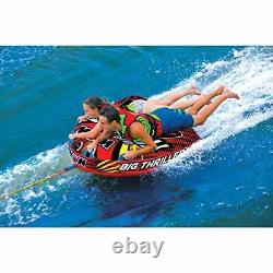 WOW Watersports Thriller Deck Tube Water Towable Tube Inflatable 1 to 2 Riders