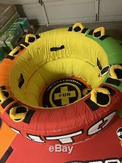 WOW Watersports UTO Starship 5 Rider Inflatable Water Tube Boat Towable PREOWNED