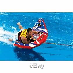Water Ski Tube Towable Sport Inflatable 1 Person Lake Deck Boating Raft Tow Ride