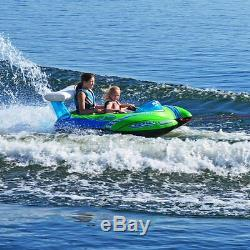 Water Ski Tube Towable Sport Inflatable 2 Person Rider Lake Boating Raft Tow New