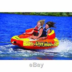 Water Sport 2 Rider Towable Tube Inflatable Lake Chariot Style Float Boat Pool