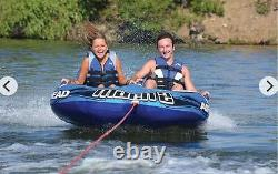 Water Towable Tubes Inflatable Boat Tubing 2 Person Sport Kid Ski Tow Raft Float