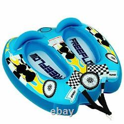 Watersports Inflatable Towable Booster Tube 2 Person Water Boating Float Tow Raf