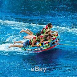 Watersports Thriller Deck Tube Water Towable Tube Inflatable Boat Tube, Wild