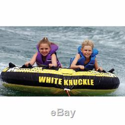 White Knuckle Skimmer 70 Inch 2 Person Towable Pull Behind Boat Water Inner Tube
