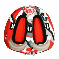White Knuckle WK-19081 Watersports and Water Skiing The Twin Towable Tube, Red