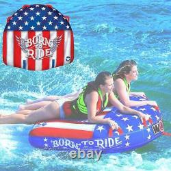 WoW Watersports Born To Ride 20-1010 Towable Inflatable Water Tube 2 Person