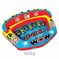 Wow Bingo 2 Inflatable 2 Person Seating Ride Cockpit Towable Water Sports Tube