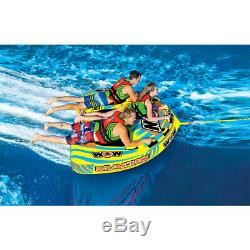 Wow Macho Combo Inflatable 3 Person Multiple Positions Towable Water Tube (Used)