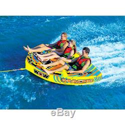 Wow Macho Combo Inflatable 3 Person Multiple Riding Positions Towable Water Tube