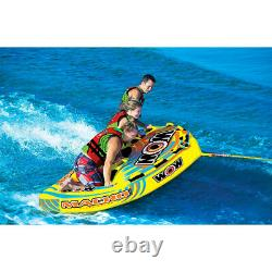 Wow Macho Combo Inflatable 3 Person Towable Water Tube (Open Box)