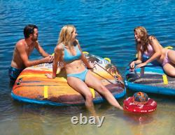 Wow Summertime Soft Top 1-2 Person Inflatable Boat Towable Tube Water Raft Float